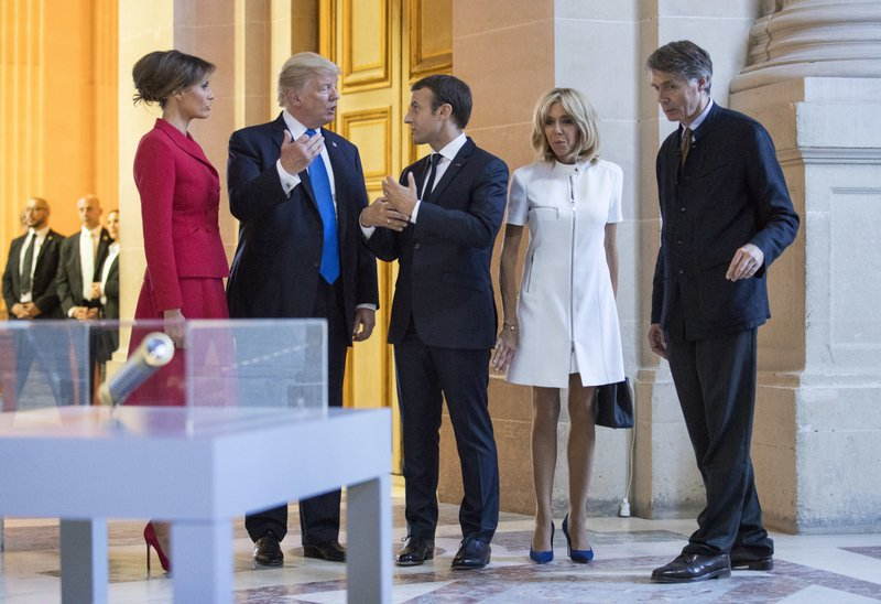 Trump Caught On Tape Complimenting Macron S Wife S Body