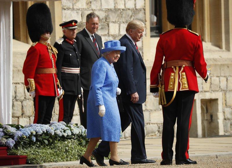 Donald Trump, Queen Elizabeth II,
