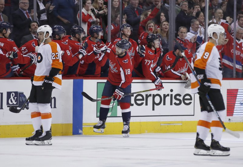 2838da1a7bd Several Capitals players end droughts in 5-3 win over Flyers