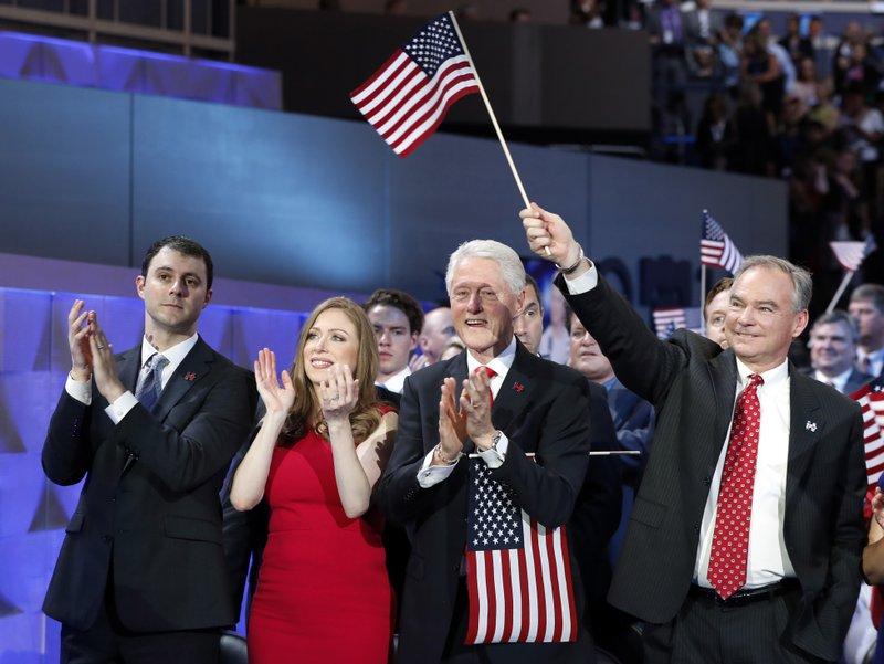 Marc Mezvinsky, Chelsea Clinton, Bill Clinton, Tim Kaine