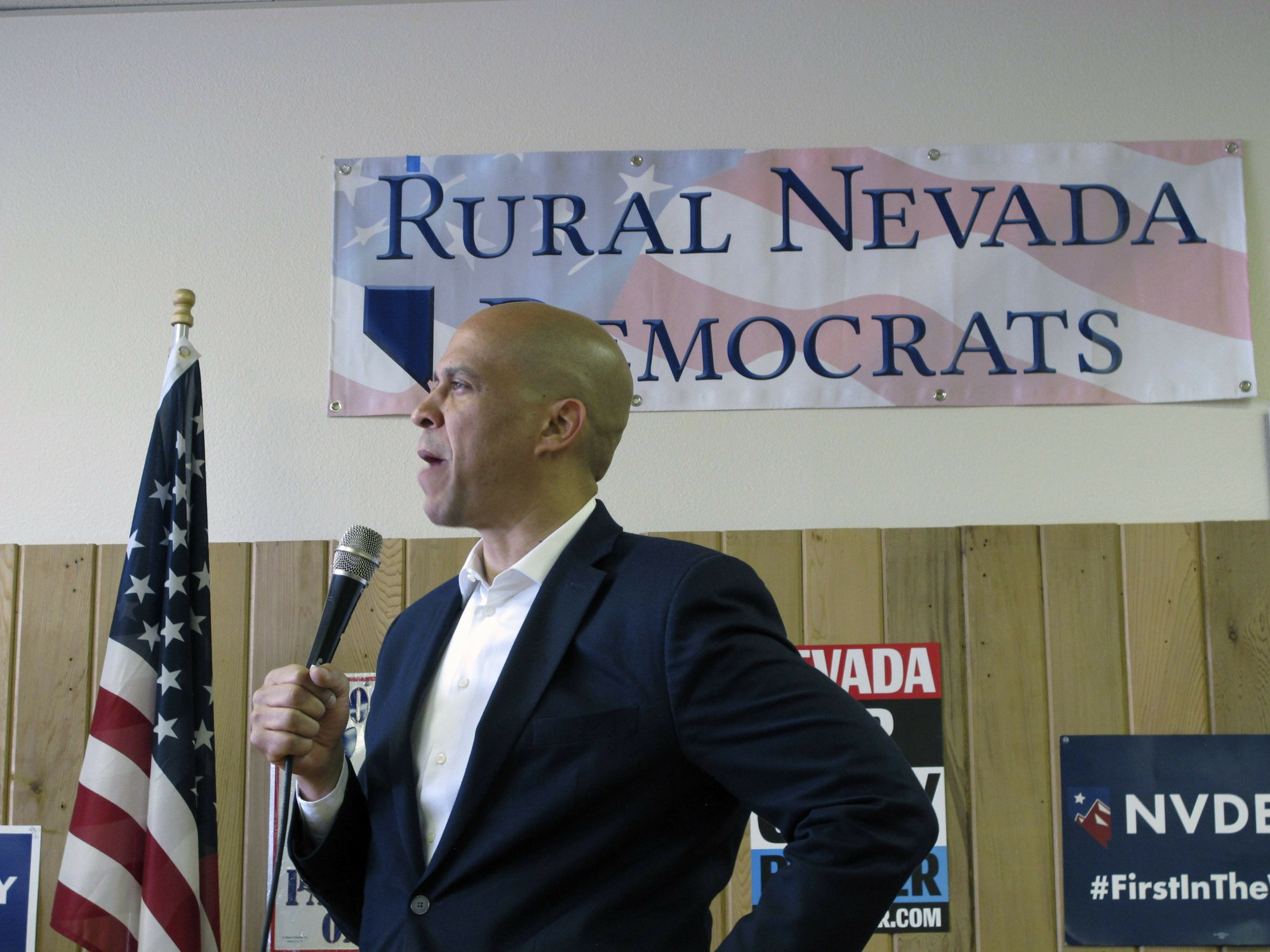 Booker first 2020 presidential hopeful to visit rural Nevada