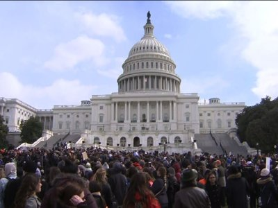 Students Stage Walkout to White House, Capitol