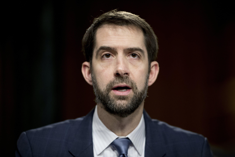 Rising GOP figure Tom Cotton in Iowa as Trump faces turmoil