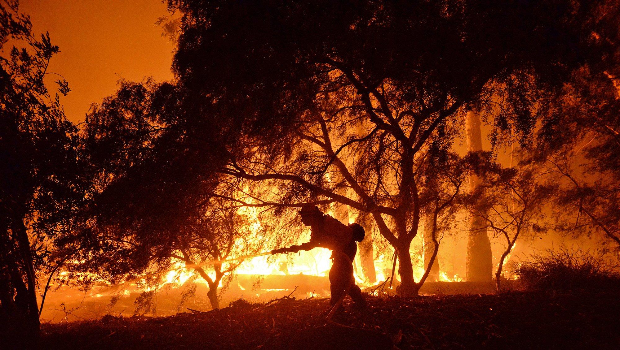 Fires threatening communities around West