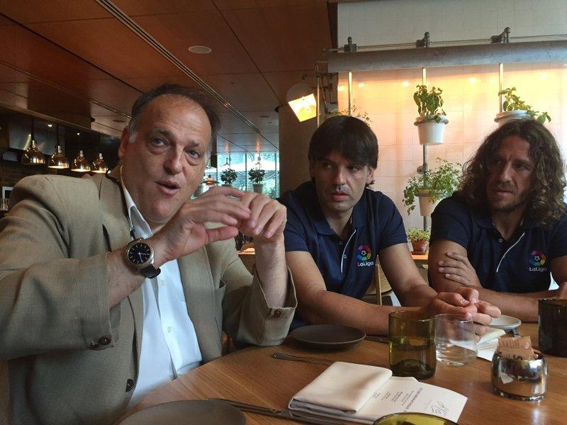 Javier Tebas,Fernando Morientes,Carles Puyol