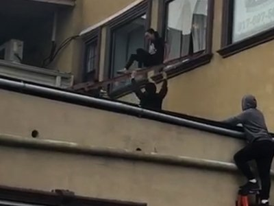 Girls Forced to Jump From Balcony to Escape Fire