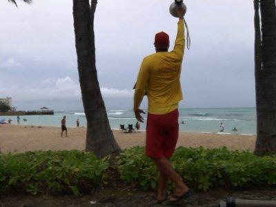 Hurricane Lane Doesn't Stop Honolulu Beachgoers