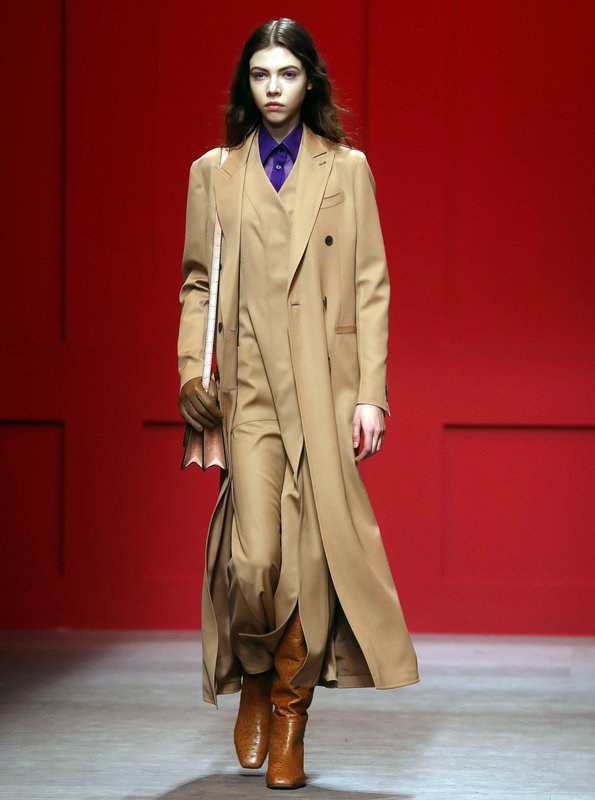 A model wears a creation as part of the Salavatore Ferragamo women s  Fall Winter 2018-2019 collection 4fb968a1c44