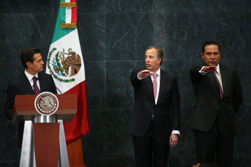 Enrique Pena Nieto, Jose Antonio Meade, Luis Enrique Miranda
