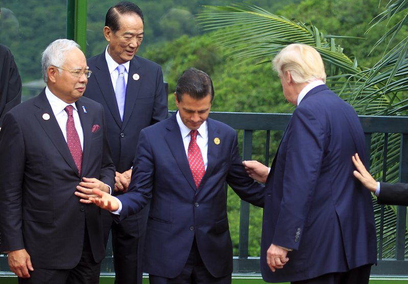 Donald Trump, Enrique Pena Nieto, Najib Razak, James Soong