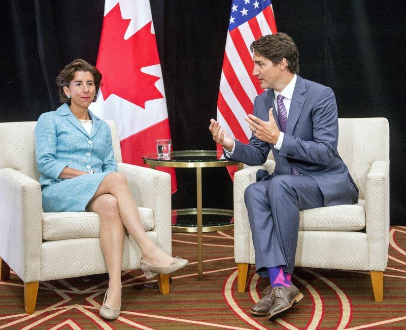 Justin Trudeau, Gina Raimondo