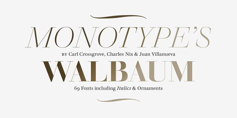 Introducing the Walbaum Typeface: the Restoration of a Warm and Stylish Serif Design That Has Nearly Limitless Applications