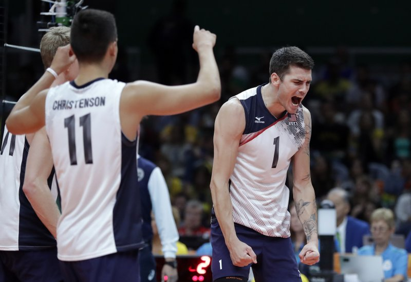 The Latest: US men's volleyball hands Brazil first Rio loss