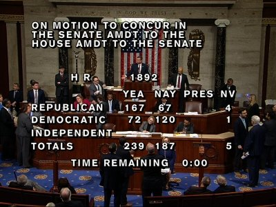 US House Passes Budget, Ends Government Shutdown