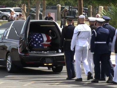 McCain motorcade arrives for memorial service