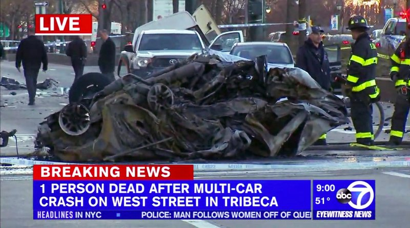 Fiery, multi-car wreck in NYC kills driver