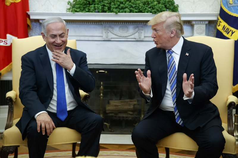 WASHINGTON (AP) — The Latest on relations between the United States and Israel (all times local):               12:35 p.m.               President Donald Trump says he may visit I