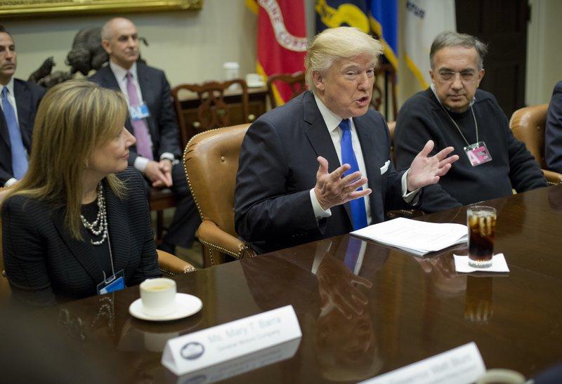 Donald Trump, Mary T. Barra, Sergio Marchionne