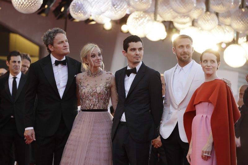 Jason Clarke, Olivia Hamilton, Damien Chazelle, Ryan Gosling, Claire Foy