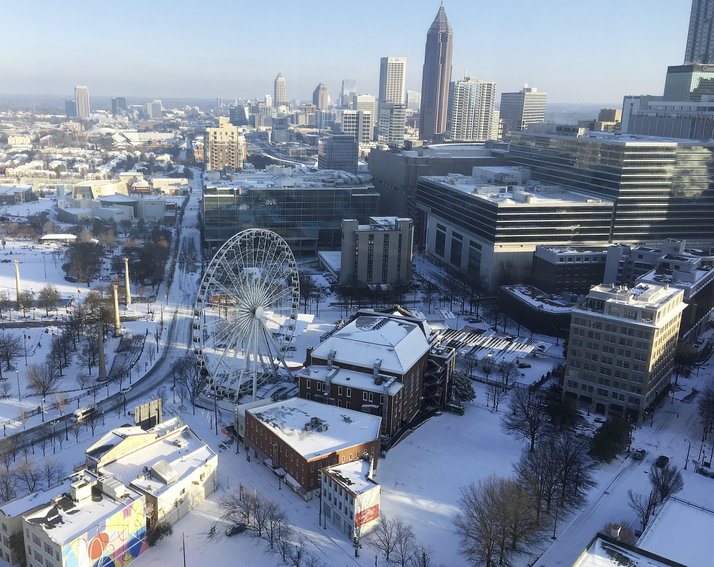 Across the South, it's snow, ice and record-breaking cold
