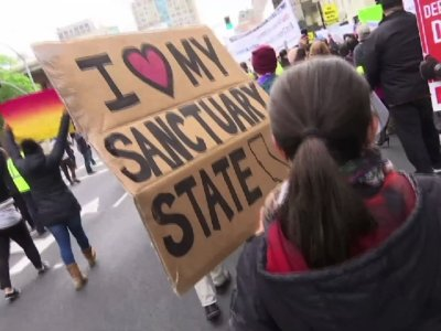 Californians Protest Federal Immigration Lawsuit