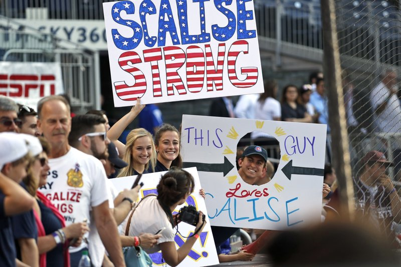 Scalise still critical but improving after surgery