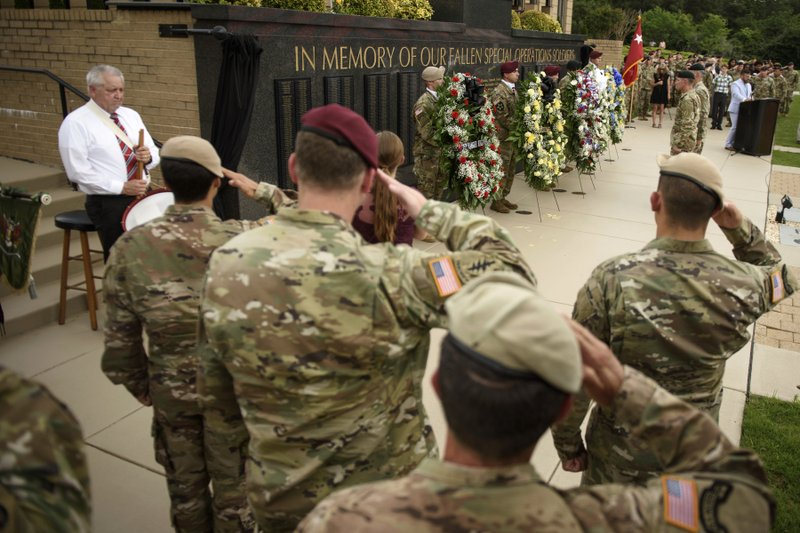 Names of 4 soldiers killed in Niger added to memorial wall