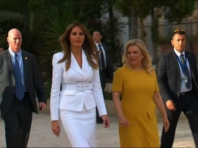 Melania Trump and Sara Netanyahu Visit Hospital