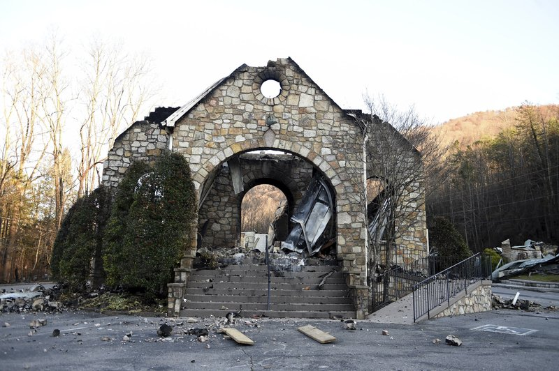 Dazed Tennessee residents get first look at wildfire rubble