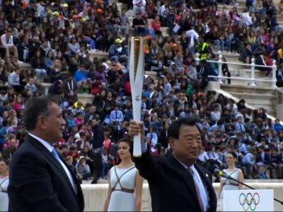 Olympic Winter Games Flame Handed to SKorea