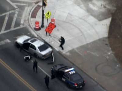 Gunman Flees Police In Baltimore Car Chase