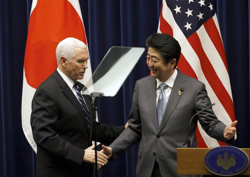 Mike Pence, Shinzo Abe