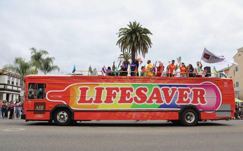 L.A. Pride: As STDs Soar in California, AHF Bus & Marchers Hail Condoms as 'Lifesaver'