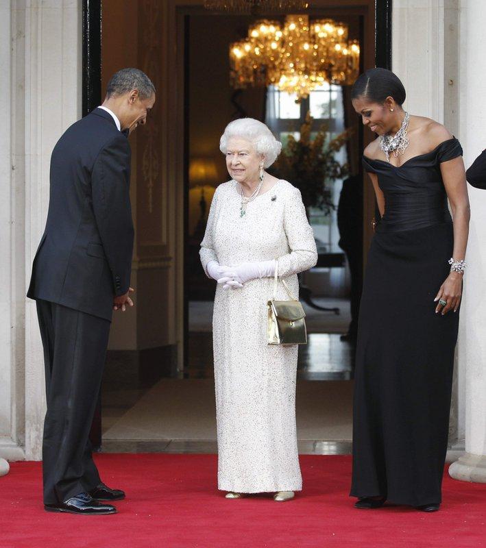 Barack Obama, Michelle Obama, Queen Elizabeth II