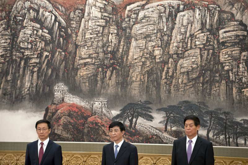 Han Zheng, Wang Huning, Li Zhanshu