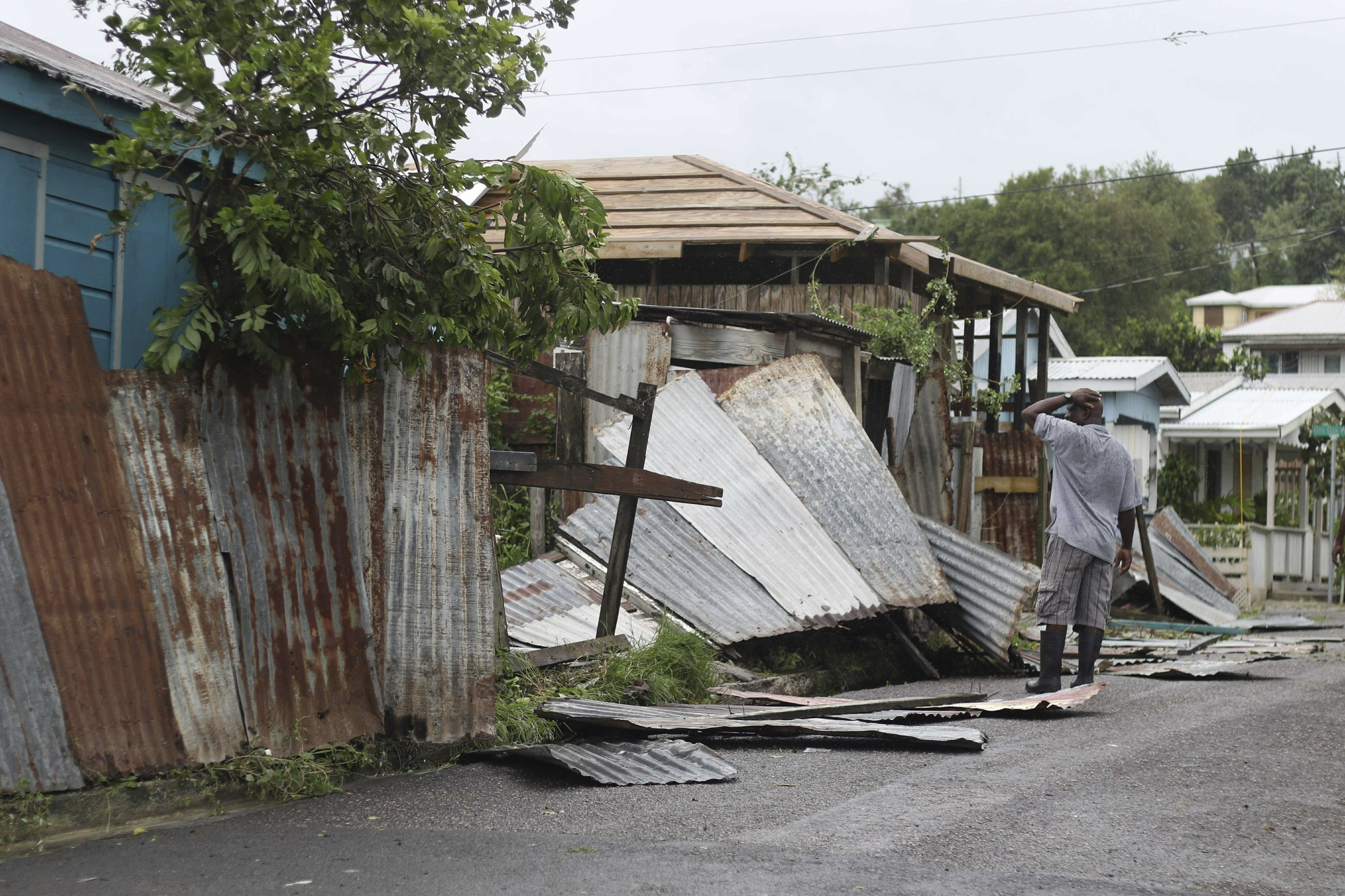 The Latest: Puerto Ricans lose power; Barbuda devastated