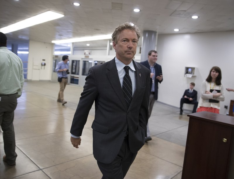 The Latest: Rand Paul responds to Trump's tweet