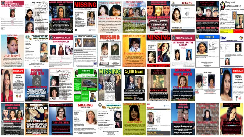 Haunting stories behind missing posters of Native women