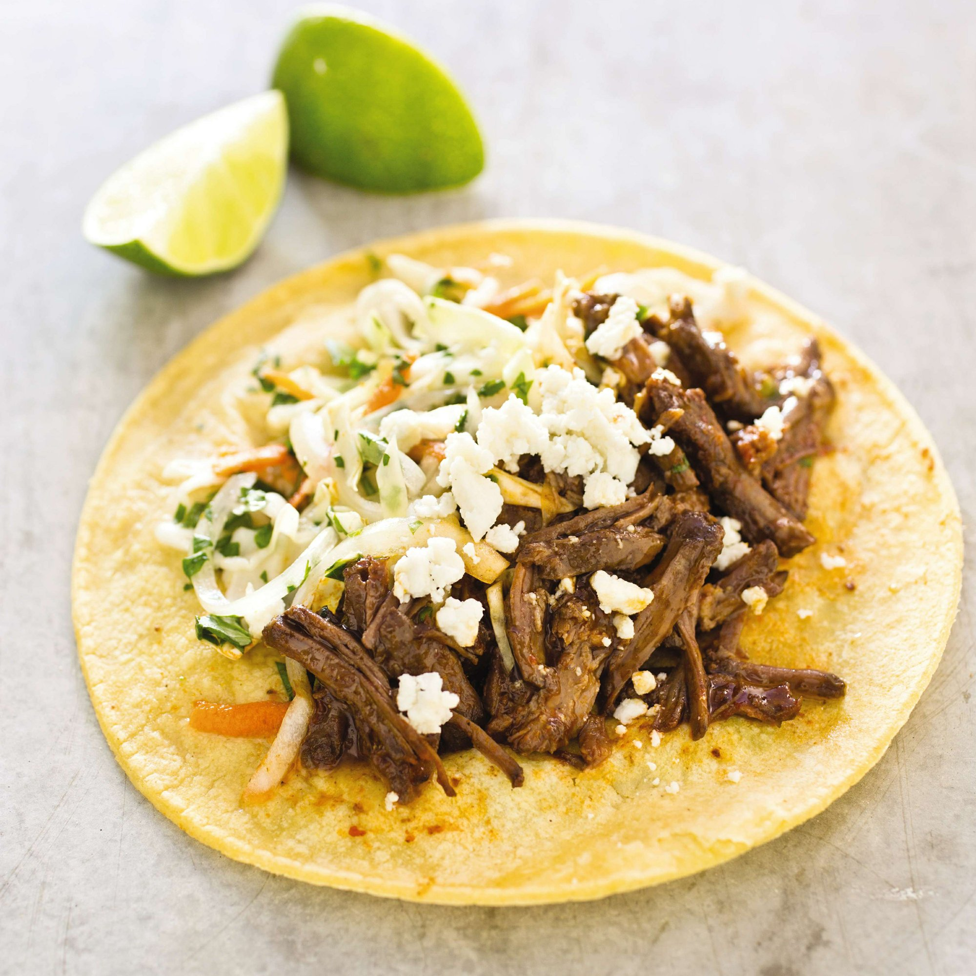 Short ribs in a beer and cider vinegar lead to great tacos