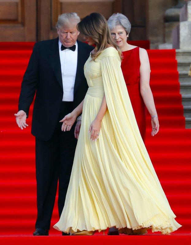 Donald Trump, Melania Trump, Theresa May