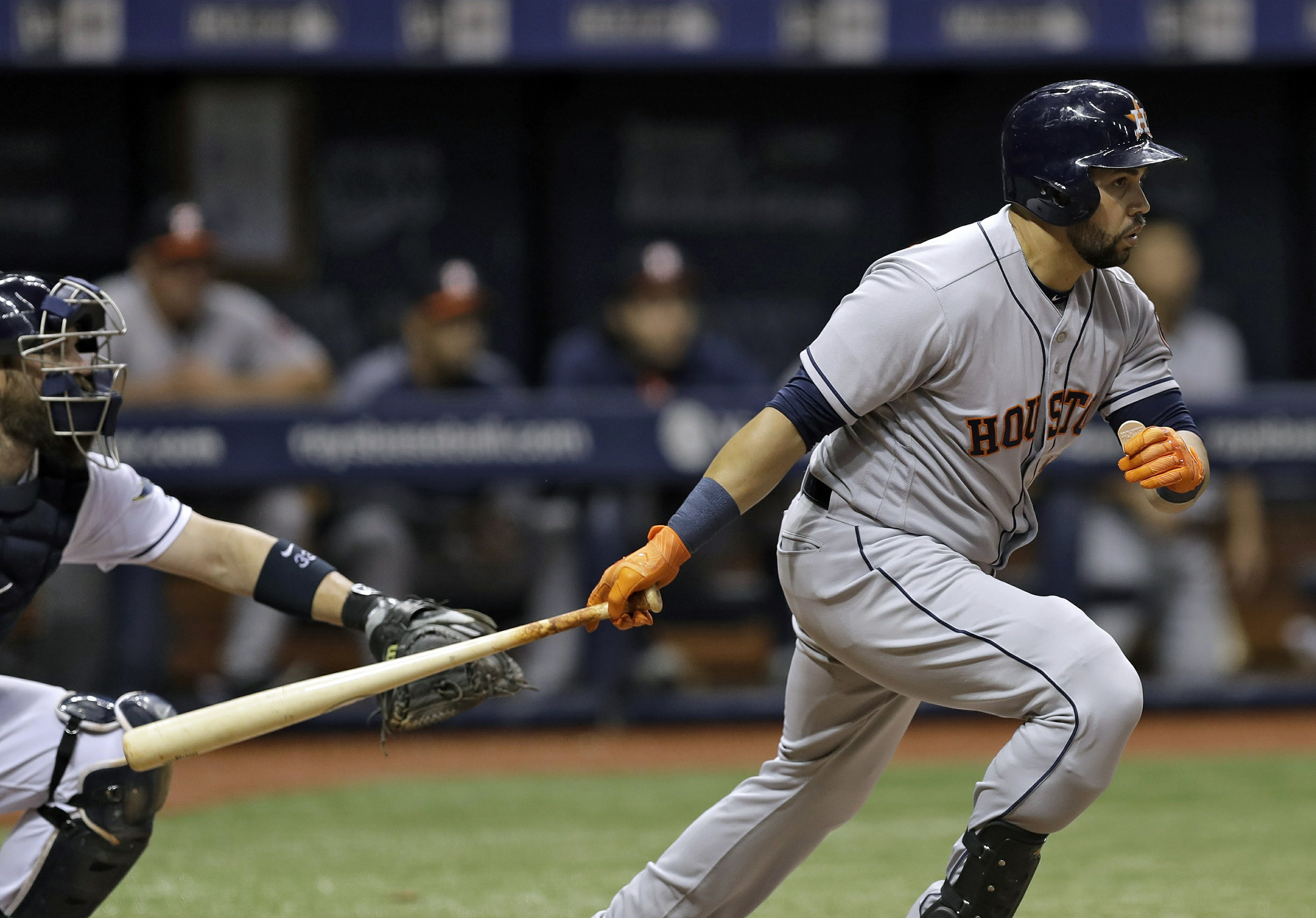 Beltran Homers Astros Come Back To Beat Rays 6 3