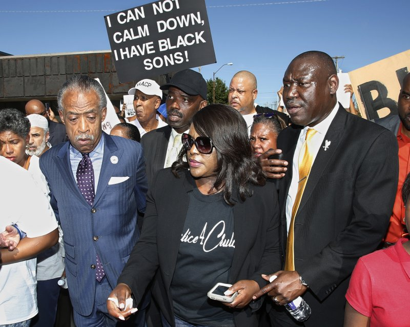 Tiffany Crutcher, Al Sharpton, Benjamin Crump