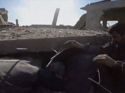 Raw: Syrian Shelling Kills Dozens Near Damascus