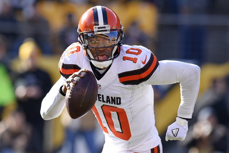 release date 7cb84 fae19 RG3 and out: Browns release quarterback Robert Griffin III