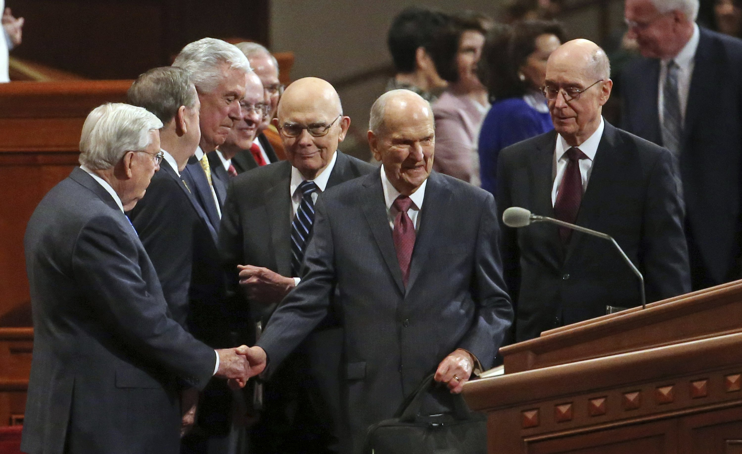 Mormon leaders talk spirituality, not changes, at conference