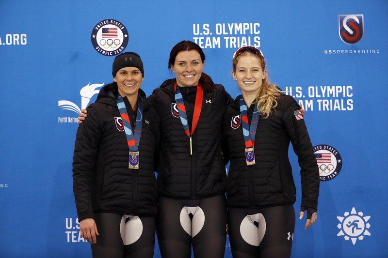 Heather Bergsma, Brittany Bowe, Mia Manganello