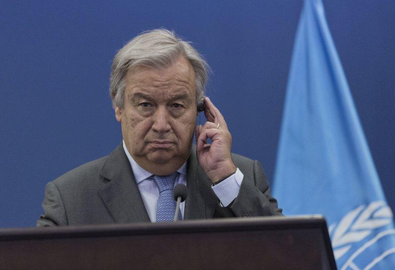 Rami Hamdallah, Antonio Guterres