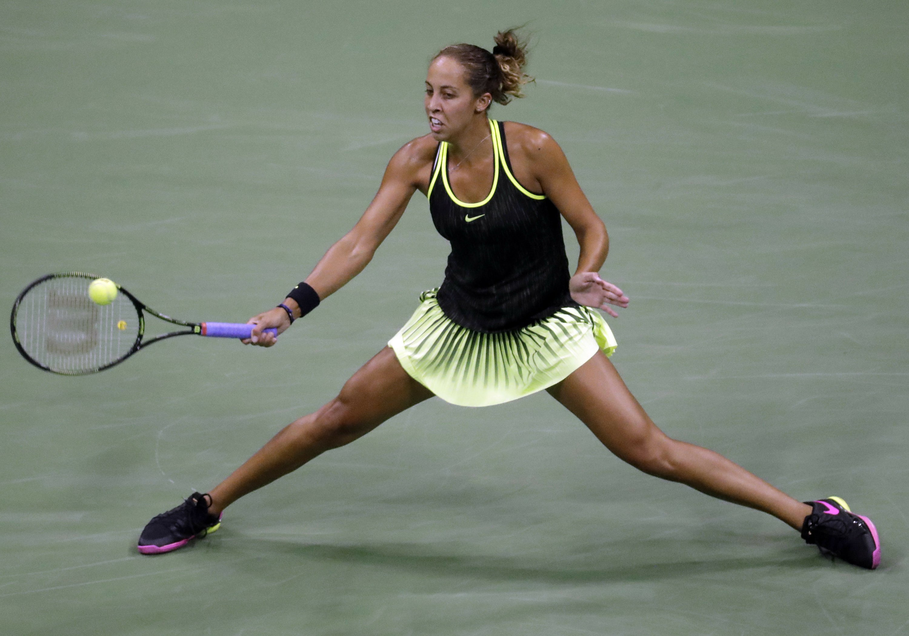 The Latest: Keys rallies for late-night win at US Open