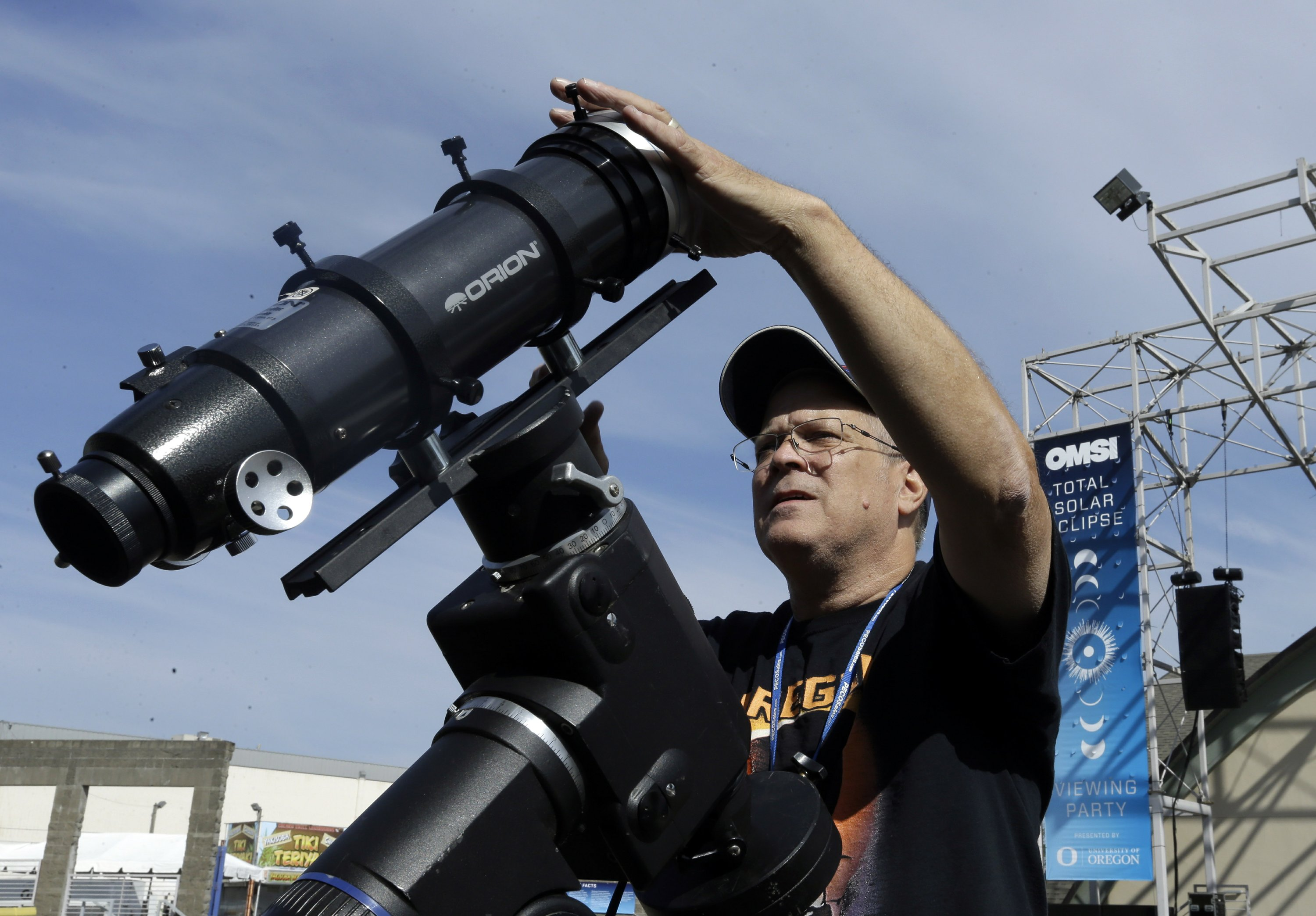 Americans stake out prime viewing spots to see sun go dark