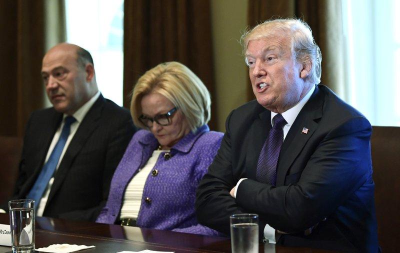 Donald Trump, Claire McCaskill, Gary Cohn